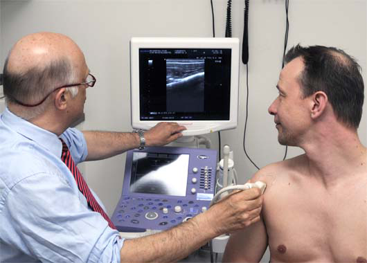 radioloog en patientkopie